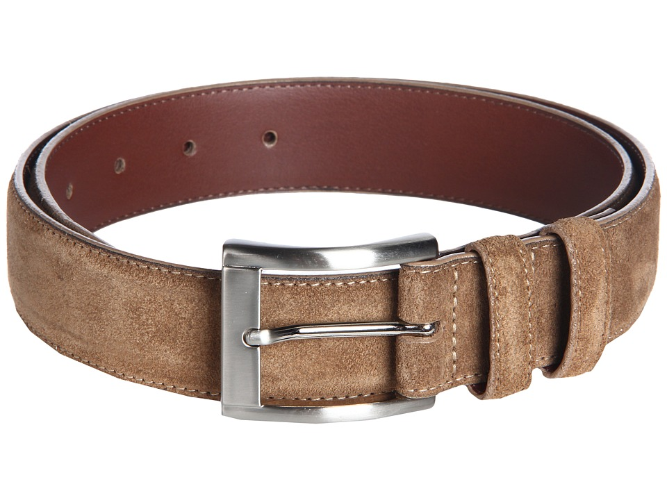 Torino Leather Co. - Itailian Calf Suede (Whiskey) Men's Belts