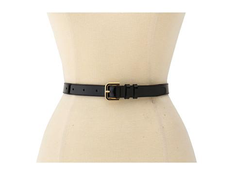 Cole Haan - Enamel Hardware Belt (Black Patent) Women