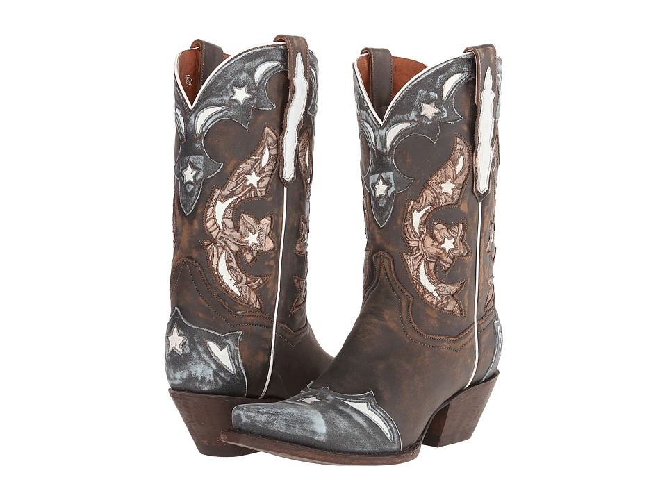 Dan Post - Copper Queen (Chocolate/Blue) Cowboy Boots