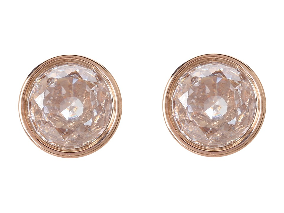Michael Kors - Brilliance Botanical Stud Earrings (Rose Gold/Clear) Earring