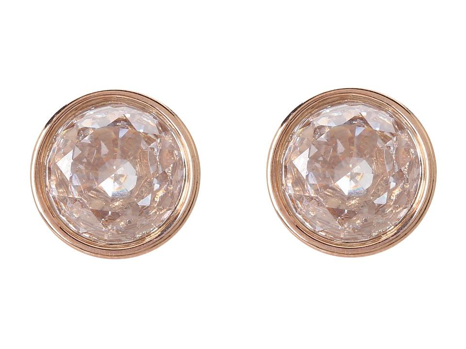 Michael Kors - Brilliance Botanical Stud Earrings (Rose Gold/Clear) Earring