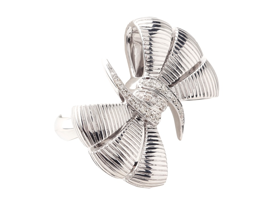 Stephen Webster - Forget Me Knot Bow Ring (Sterling Silver/White Diamonds) Ring
