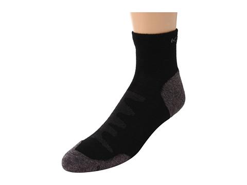 Keen Olympus Lite 1/4 Crew (Black) Men's Quarter Length Socks Shoes