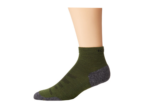Keen Olympus Lite 1/4 Crew (Dark Green) Men's Quarter Length Socks Shoes