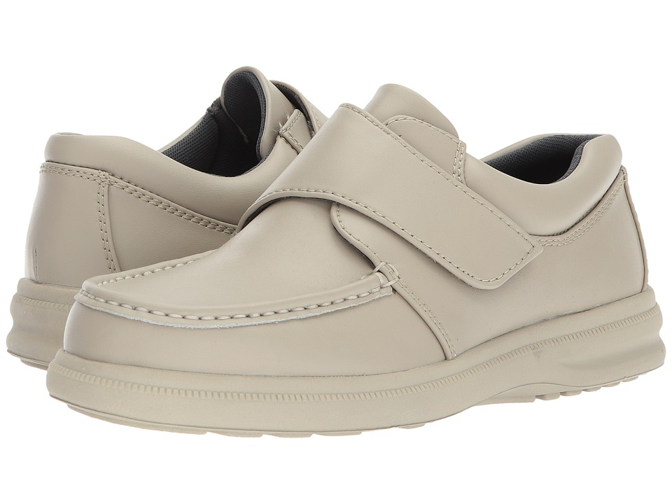 Hush Puppies - Gil (Sport White Leather) Men's Hook and Loop Shoes