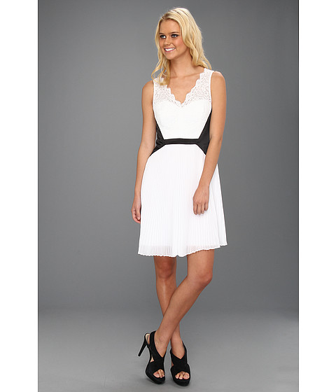 Max and Cleo - Tricia Woven Cocktail Dress (White) Women