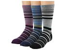 Keen Super Strata Crew 3-Pack (Blue/Purple/Black) Women's Crew Cut Socks Shoes