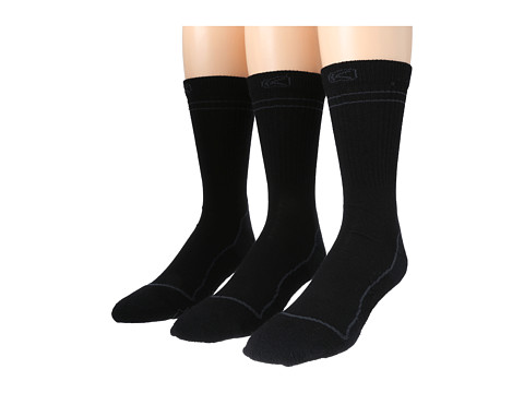 Keen - Bellingham Crew Lite 3-Pack (Black) Men's Crew Cut Socks Shoes