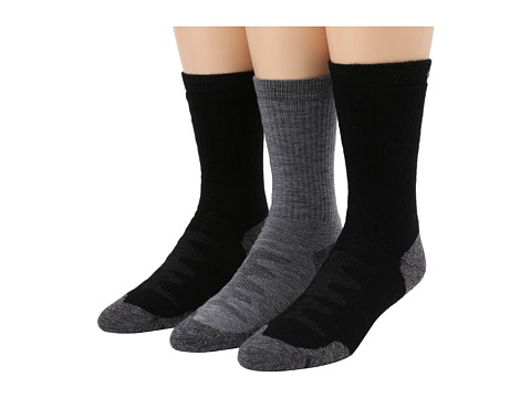 Keen Olympus Medium Crew 3-Pack (Black/Black/Gray) Men's Crew Cut Socks Shoes