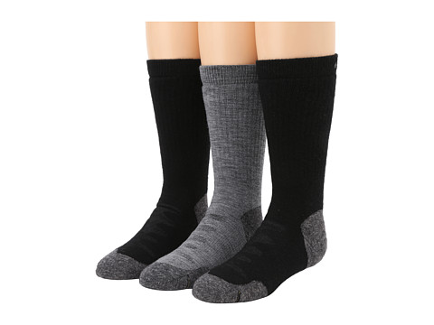 Keen Olympus Medium Crew 3-Pack (Black/Black/Gray) Women's Crew Cut Socks Shoes