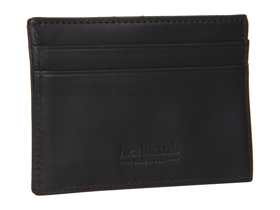 Allen-Edmonds - Money Clip Card Holder (Black) Bi-fold Wallet