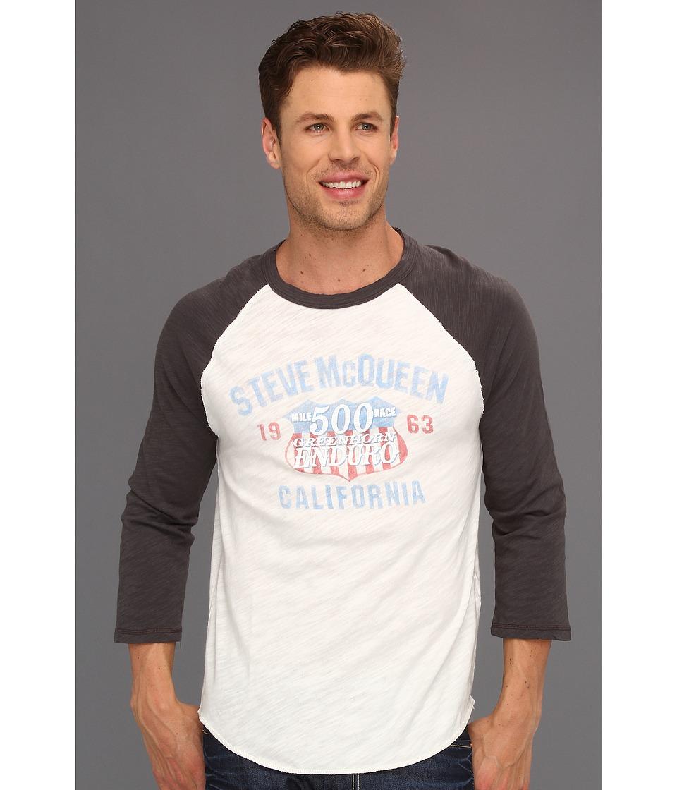 Lucky Brand Mcqueen Enduro Baseball Mens T Shirt (White)