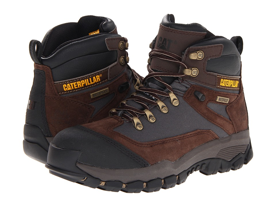 Caterpillar - Knightsen ST WP (Espresso Nubuck) Men's Work Lace-up Boots