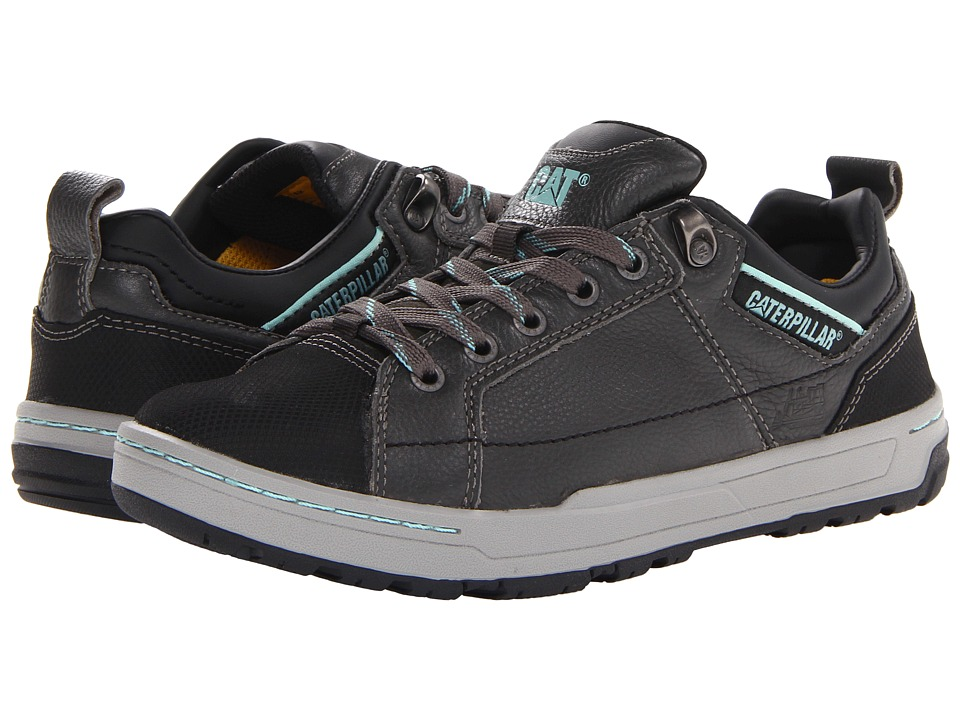 Caterpillar - Brode (Dark Grey/Mint Smooth Pigmented Leather) Women's Industrial Shoes