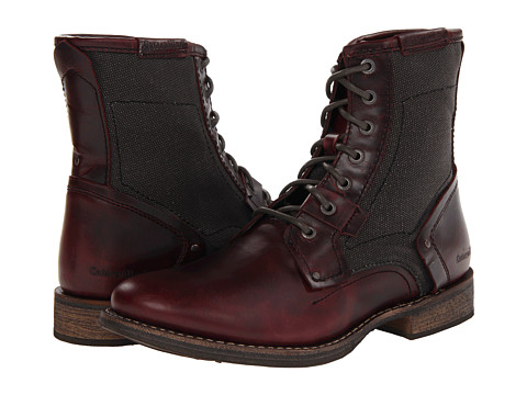 Caterpillar - Abe TX (Oxblood Full Grain Leather/Blackout Canvas) Men