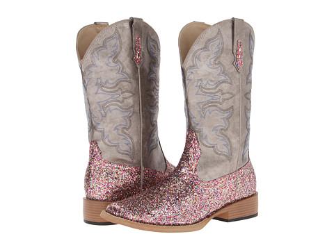 Roper - Bling SquareToe Boot (Metallic Grey/Multi Glitter) Cowboy Boots