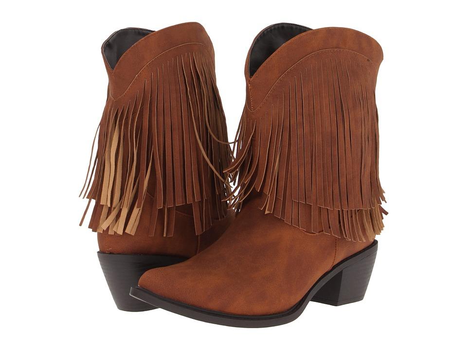 Roper - 8 Fringe Boot (Tan) Cowboy Boots