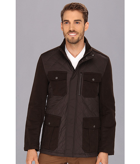 Cole Haan - Quilted Moleskin Jacket (Espresso) Men's Coat