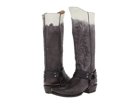 Stetson - 15 Ombre Harness Snip Toe Boot (Brown Antiqued 2-Tone) Women's Zip Boots
