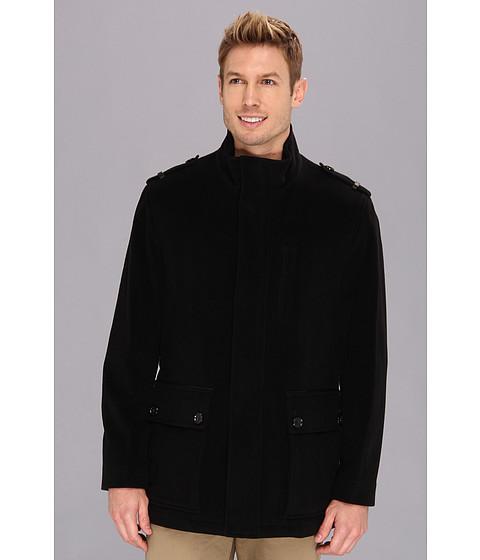 Cole Haan - Italian Wool Military Jacket (Black) Men's Coat