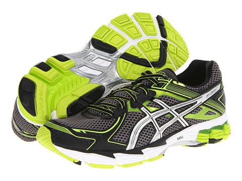 ASICS - GT-1000 2 (Storm/Lightning/Limeade) Men's Running Shoes