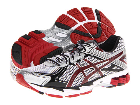 ASICS - GT-1000 2 (White/Maroon/Lightning) Men