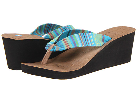 Freewaters - Kitz Wedge (Blue Stripe) Women