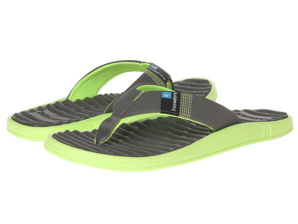 Freewaters - GPS (Grey/Green) Men's Sandals