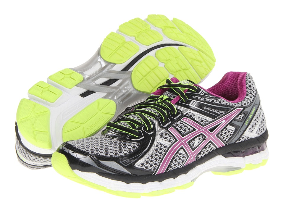ASICS - GT-2000 2 (Black/Orchid/Flash Yellow) Women's Running Shoes