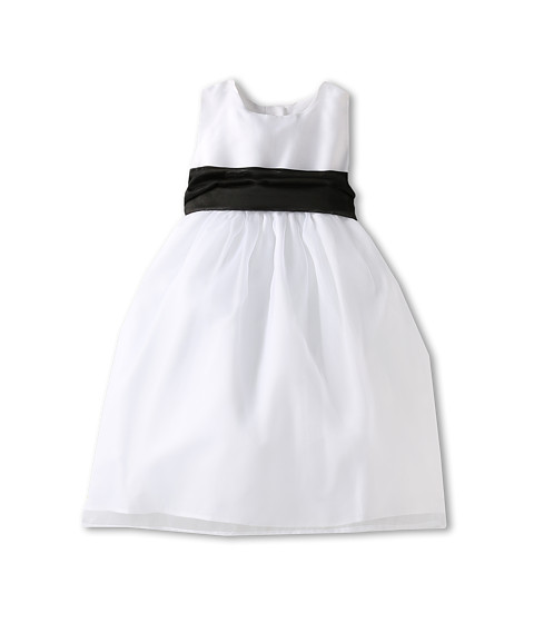 Us Angels - Wide Organza Sash (Infant/Toddler/Little Kids/Big Kids) (Black) Girl's Belts