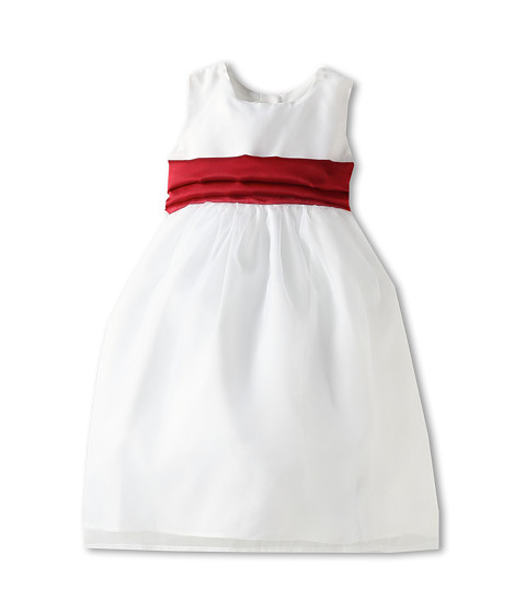 Us Angels - Wide Organza Sash (Infant/Toddler/Little Kids/Big Kids) (Red) Girl
