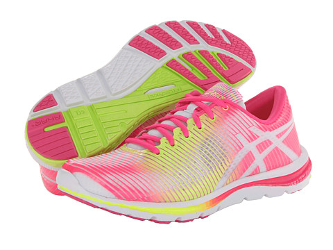 ASICS - GEL-Super J33 (White/Flash Yellow/Hot Pink) Women