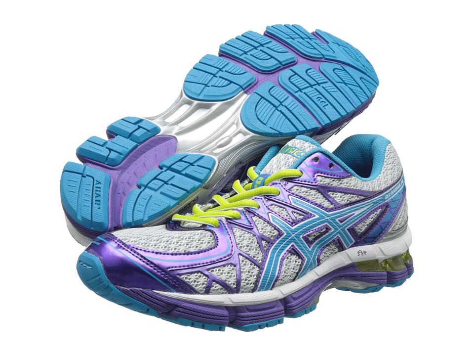 ASICS Kids - Gel-Kayano 20 GS (Little Kid/Big Kid) (Platinum/Island Blue/Limeade) Girls Shoes