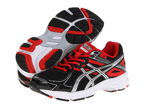 ASICS Kids - GT-1000 2 GS (Little Kid/Big Kid) (Black/Fire Red/Black) Boys Shoes