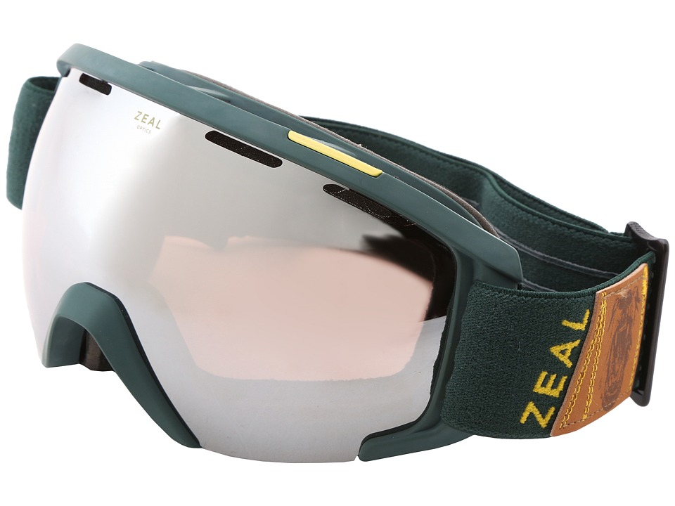 Zeal Optics - Slate (Foundry Fern + Optimum Lens w / Metal Mirror) Goggles