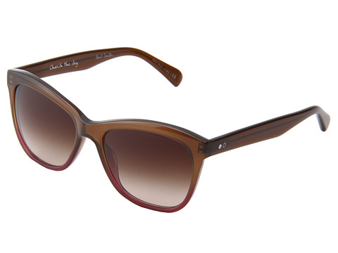 Paul Smith - Alesiter (Umber Rose/Umber Gradient) Plastic Frame Fashion Sunglasses