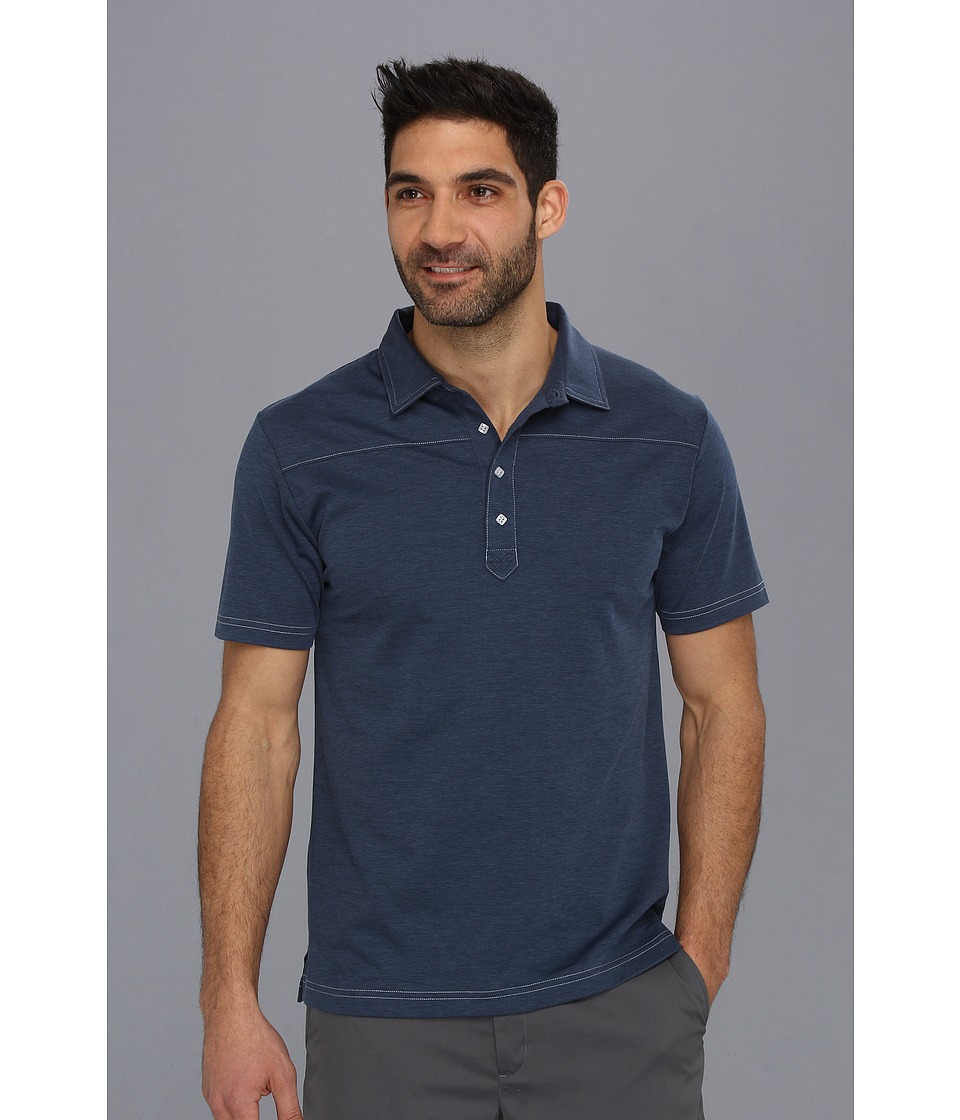 TravisMathew - B-Player S/S Polo '14 (Navy) Men's Short Sleeve Knit