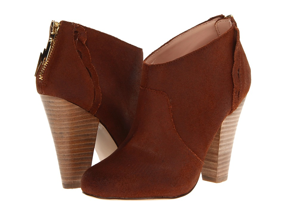 Betsey Johnson - Jensen (Cognac Oil Cow Suede) Women's Zip Boots
