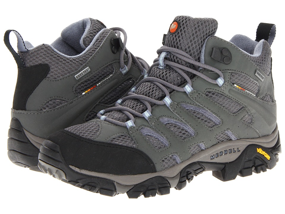Merrell - Moab Mid GTX (Grey/Periwinkle) Women's Shoes