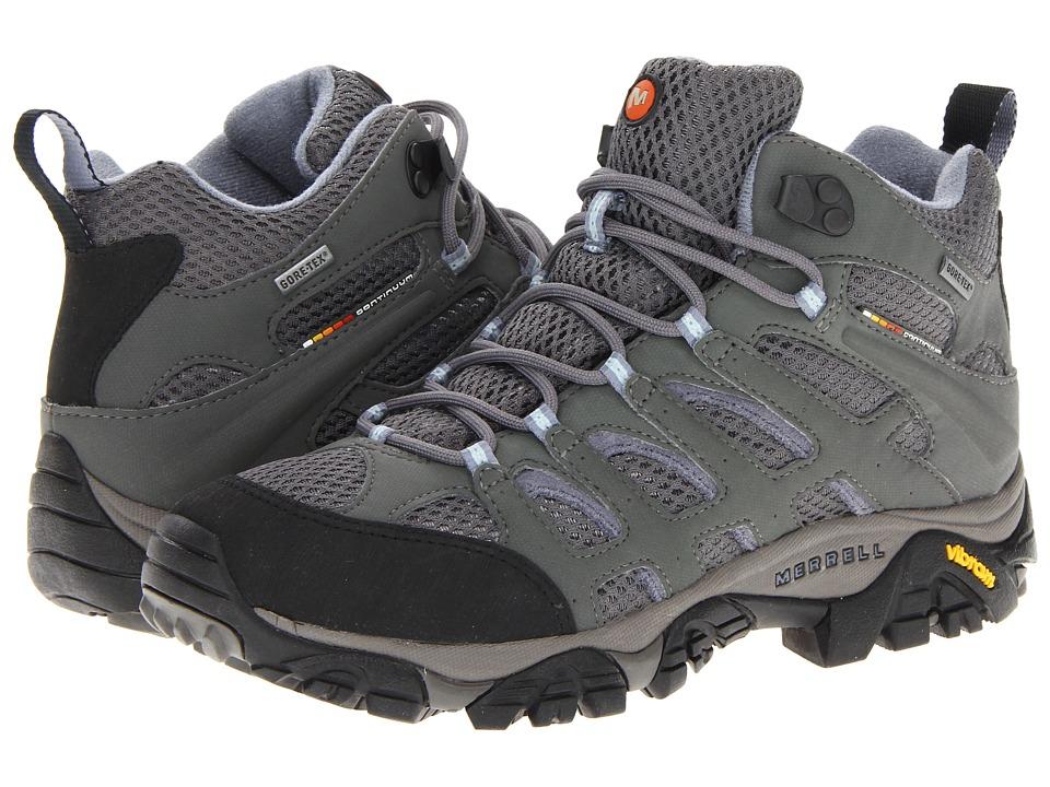 Merrell - Moab Mid GTX (Grey/Periwinkle) Women's Shoes