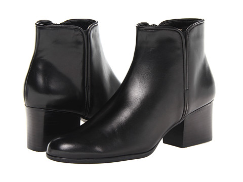Vaneli - Caesar Boot (Black Nappa Leather) Women's Zip Boots