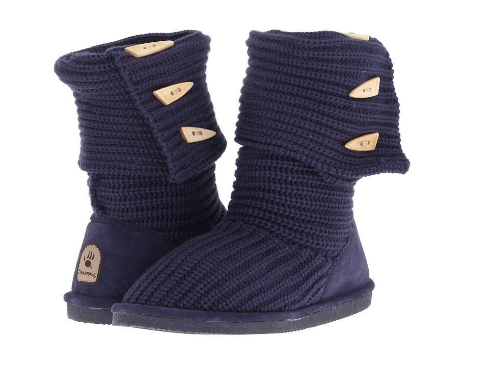 Bearpaw Knit Tall (Indigo) Women