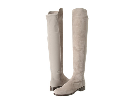 Shop Stuart Weitzman online and buy Stuart Weitzman 5050 Topo Suede Shoes - Stuart Weitzman - 5050 (Topo Suede) - Footwear: These bodacious over-the-knee boots are half rockstar, half supermodel! ; Available in a variety of upper materials. ; Easy pull-on construction. ; Soft leather lining. ; Lightly cushioned leather footbed. ; Rubber sole. ; Made in Spain. Measurements: ; Heel Height: 3 4 in ; Weight: 1 lb ; Circumference: 14 in ; Shaft: 21 in ; Product measurements were taken using size 6.5, width M. Please note that measurements may vary by size.