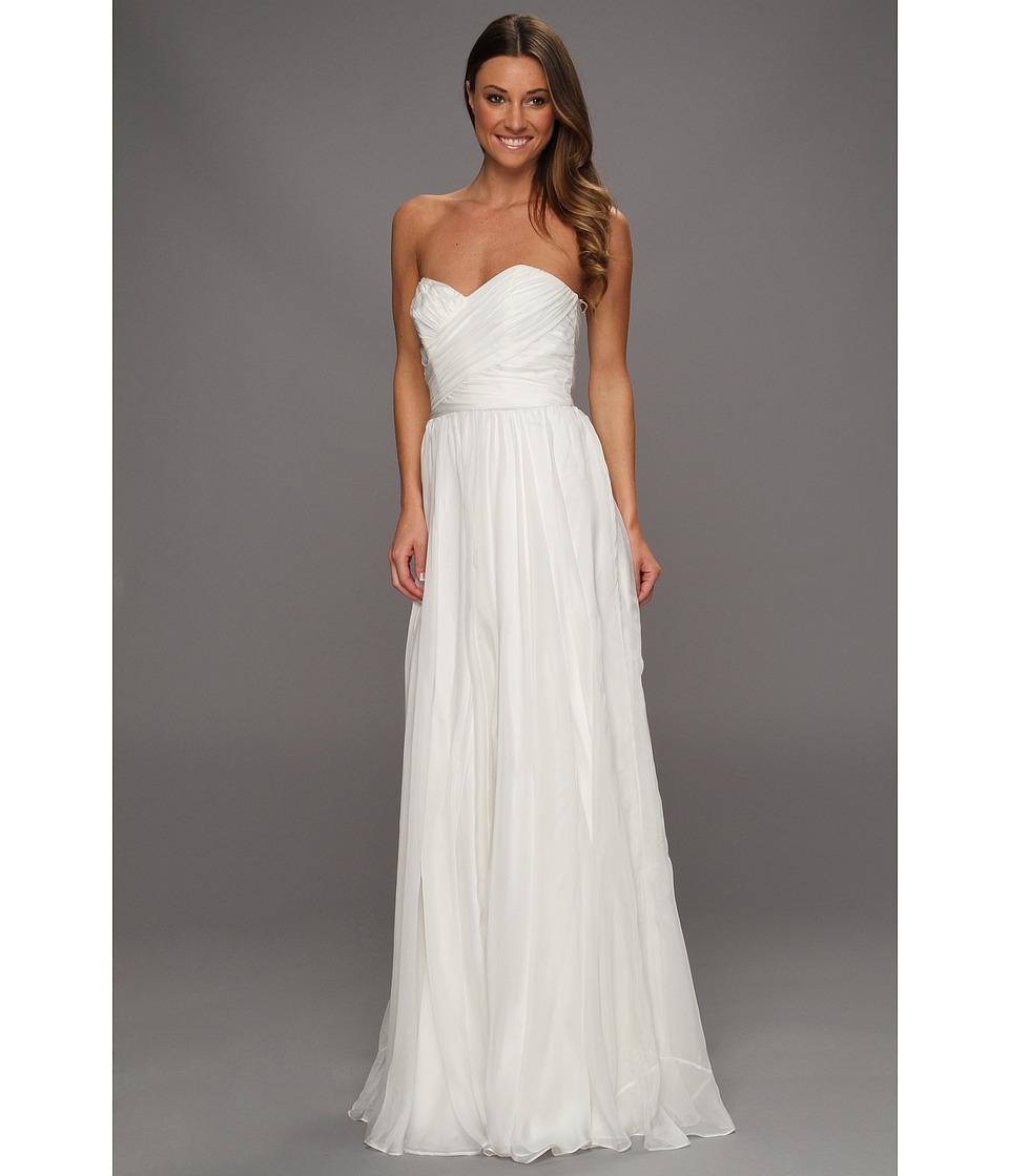 Badgley Mischka Strapless Bridal Gown Womens Dress (White)