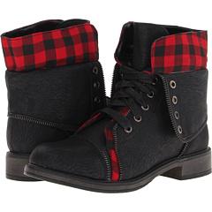 SKECHERS Awol Cute Combat (Black Red) Footwear