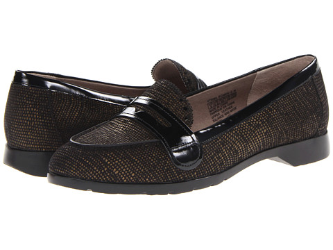 Rockport Jia Penny Loafer (Black Tweed) Women's Flat Shoes