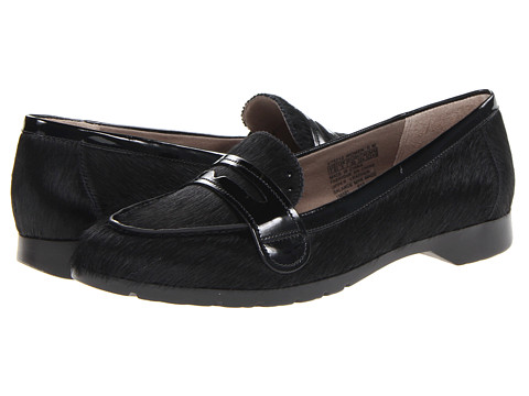 Rockport Jia Penny Loafer (Black Pony) Women's Flat Shoes