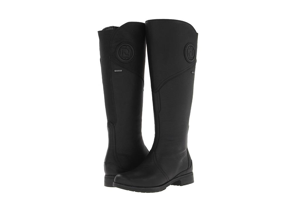 Rockport Tristina Gore Tall Waterproof Boot Wide Calf (Black Extended Shaft) Women