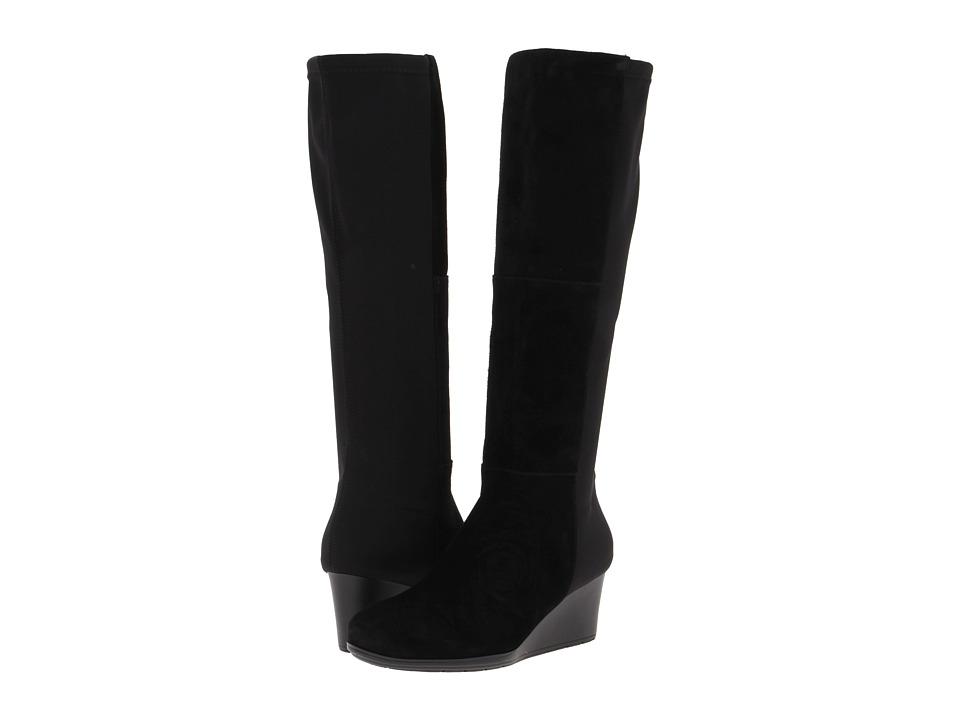 Rockport TM60MMW Stretch Boot (Black Suede) Women