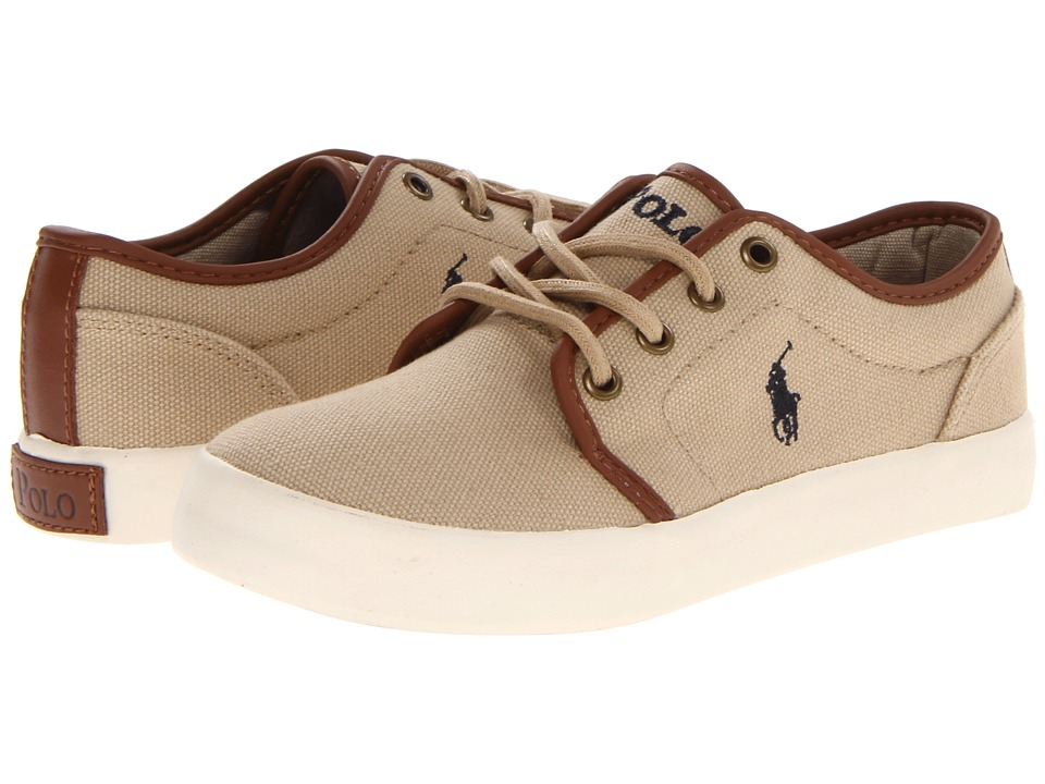 Polo Ralph Lauren Kids - Ethan Low FA13 (Big Kid) (Khaki Ballstic Canvas) Boys Shoes